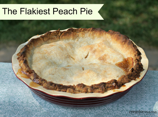 Flakiest Peach Pie Recipe with pastry tips from Robin Hood Bake Centre