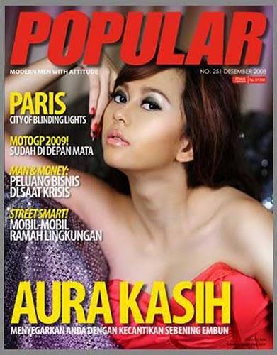 Artis Indonesia|Aura Kasih Foto Di majalah Popular