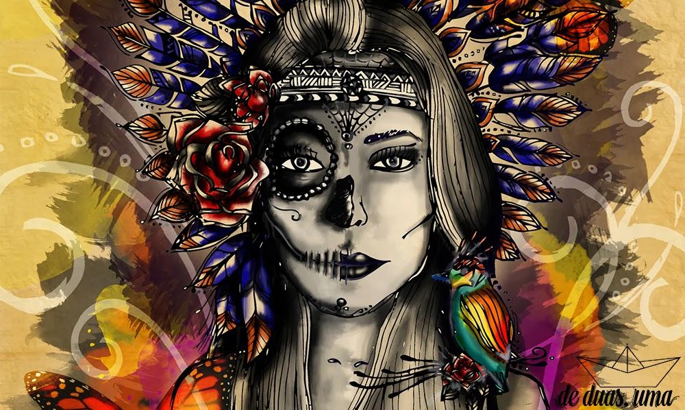 de duas uma mexican indian skull
