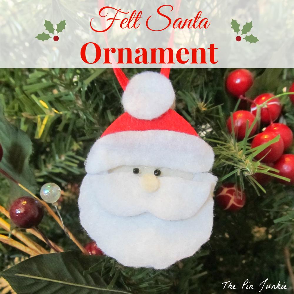 felt santa christmas ornaments