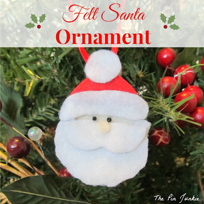 DIY Felt Santa Christmas Ornament