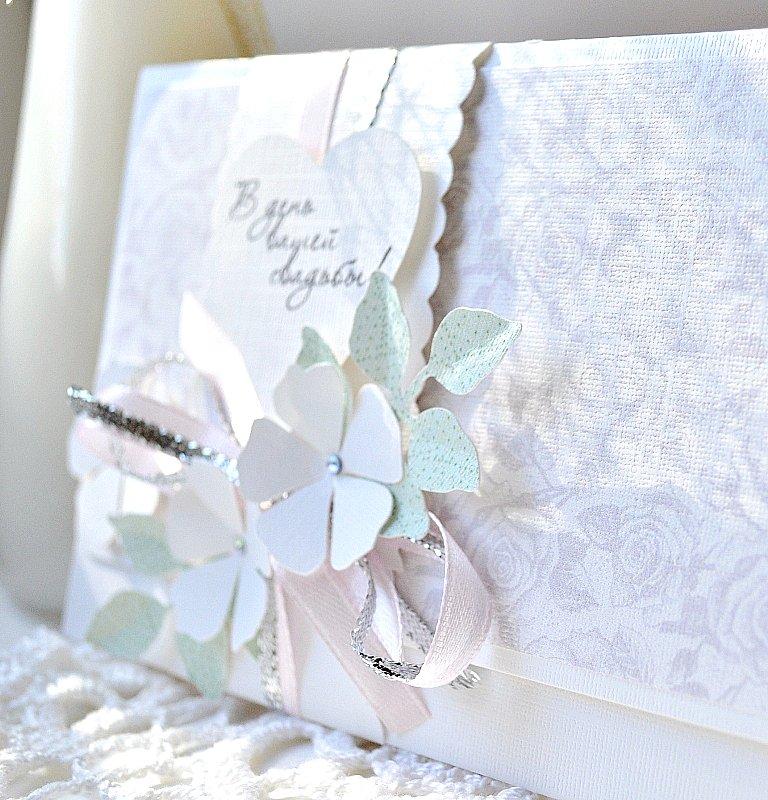 Открытка своими руками на свадьбу с конвертом 20