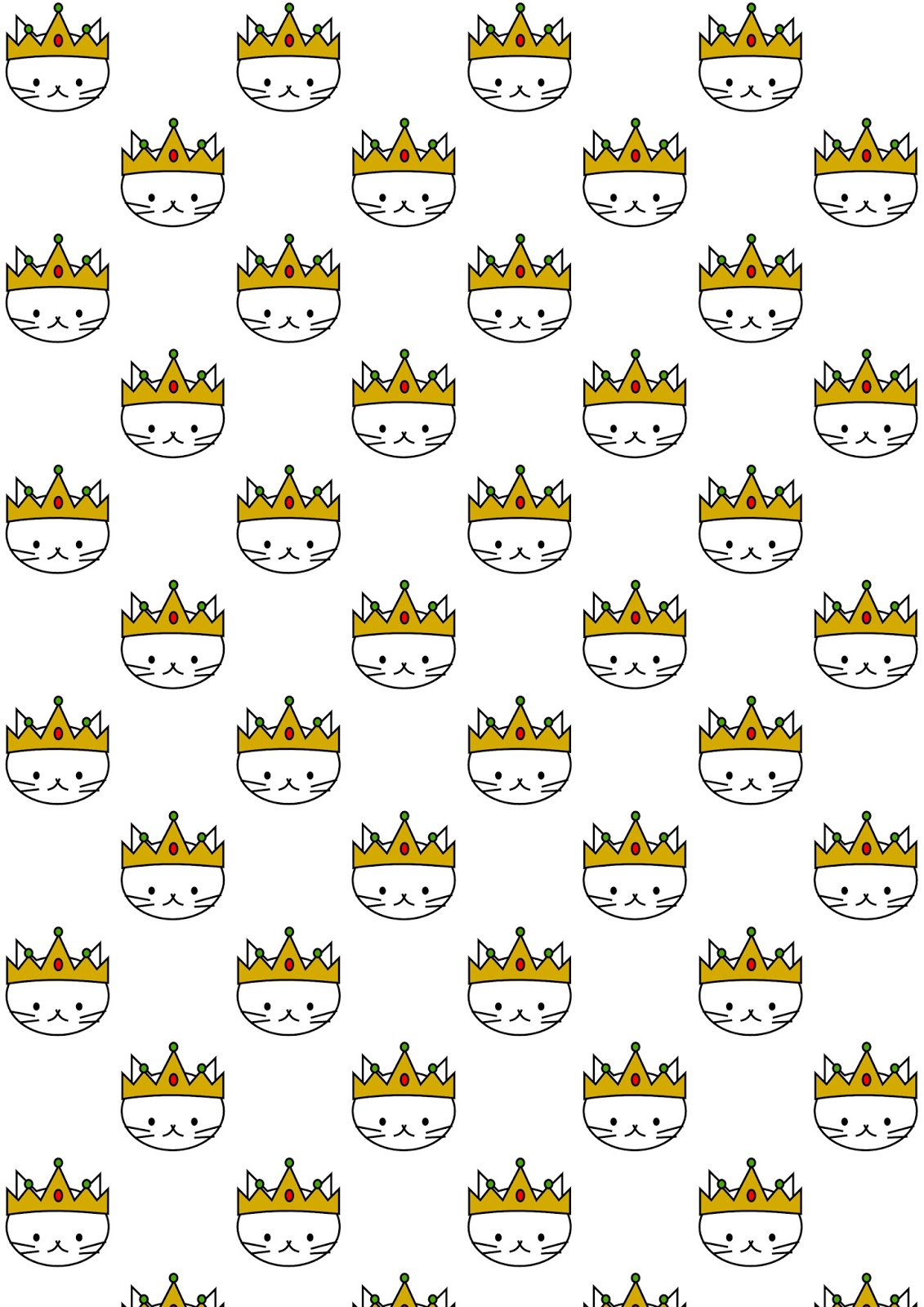Scrapbook paper kawaii - Free Digital Cat Scrapbooking Paper Kawaii Kitty Cat Freebie