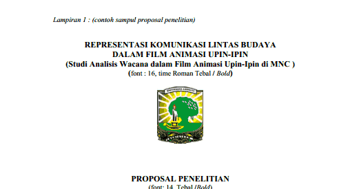 Contoh Cover Proposal Penelitian Dev Ryoko
