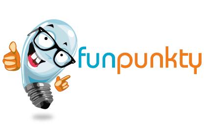 projekty graficzne logo maskotka cartoon urbaniak funpunkty ilustracja infografiki banery ilustracyjne
