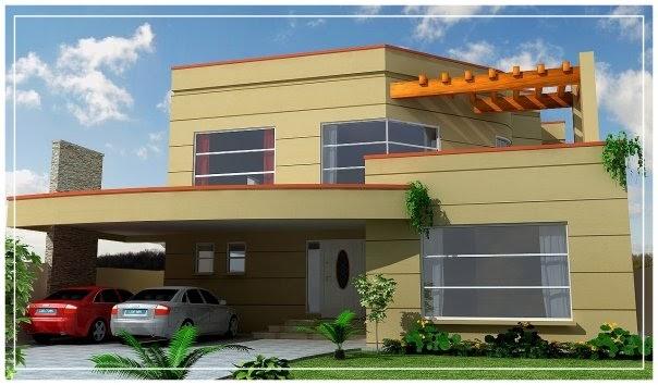 D Front Elevation Software : D front elevation kanal house