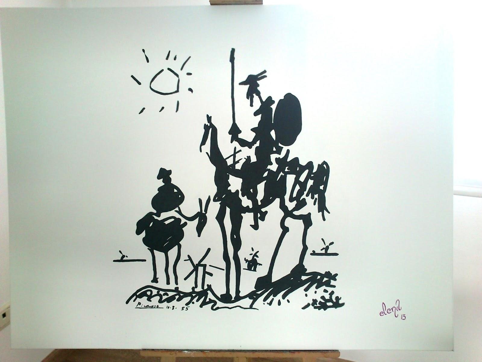 Don Quijote de Picasso