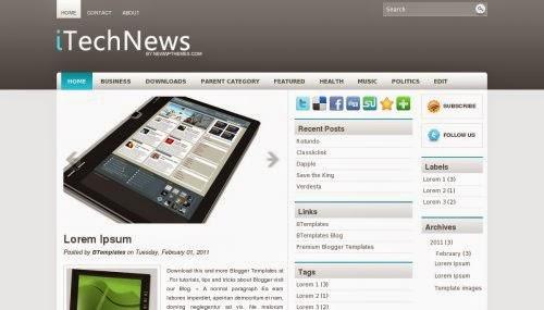 iTech News - Free Blogger Template