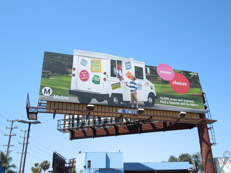 Metro ice cream van extension billboard