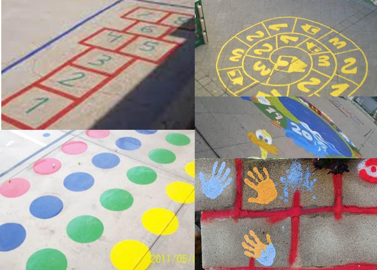 Ferreter a la providencia patio divertido for Como pintar un piso colores