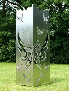 Gartendekoration aus metall for Edelstahl gartendekoration