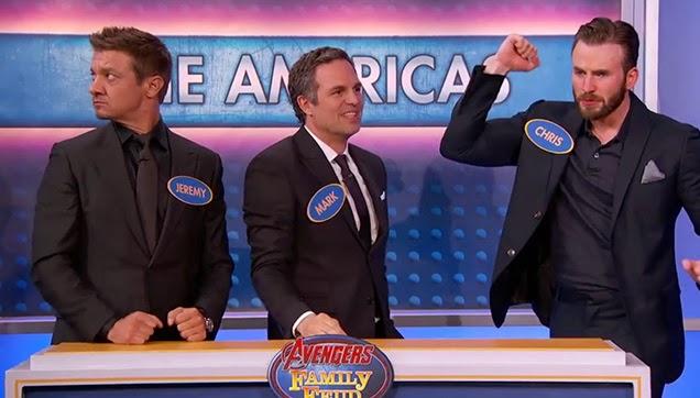 Hawkeye, Hulk and Captain America.