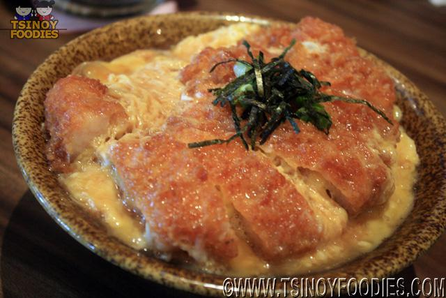 pork cutlet with scrambled egg in tokyo style