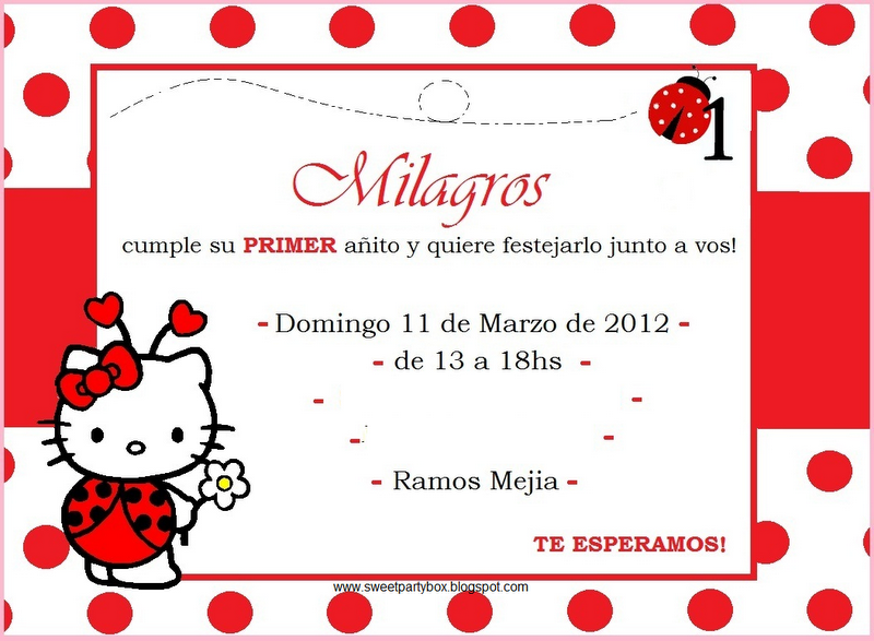 Sweet Party Box: Milagros cumple su Primer Año junto a Kitty ...