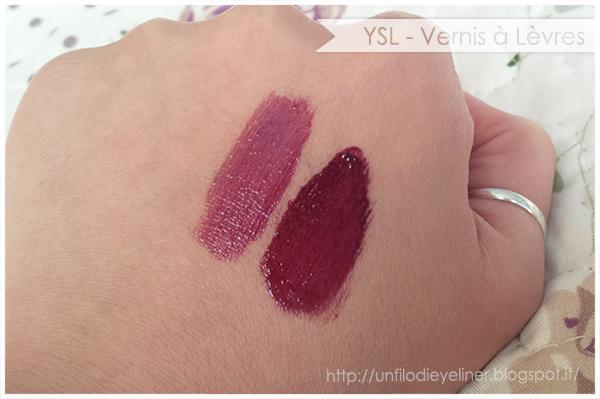 YSL Vernis à Lèvres - 01 Violet Edition swatch