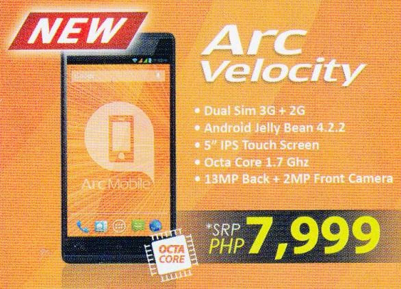 Arc Mobile Velocity: 5-inch HD Octa Core Phablet For Php7,999