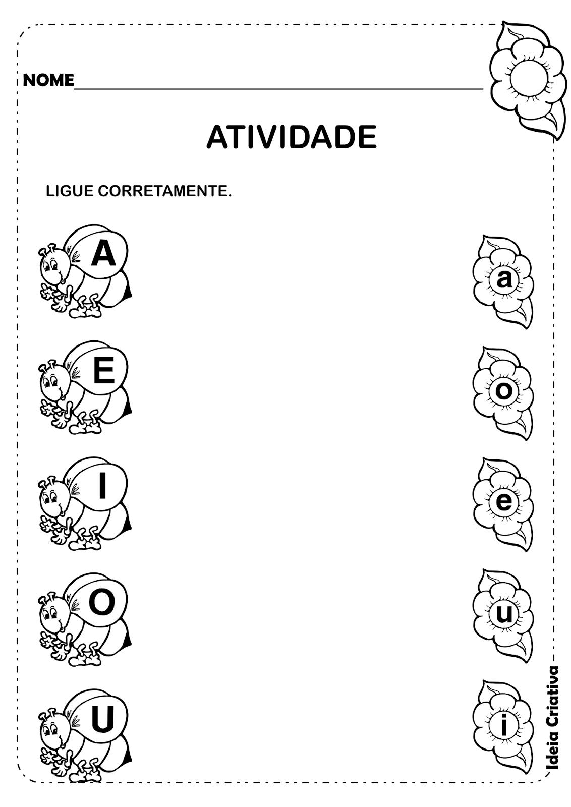 Atividade Vogais Maiúsculas e Minúsculas