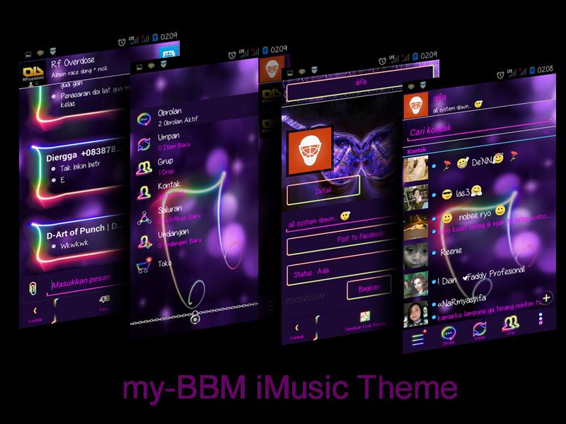 BBM Mod Music Version 2.7.0.23 + Clone + Cover UI