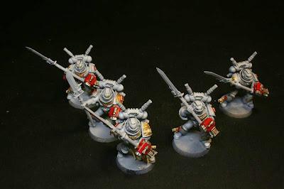 escuadra interceptora de los caballeros grises de W40K