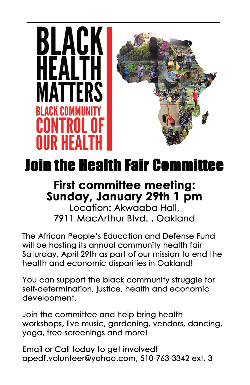 Attend the Health Fair Kick-Off Committee Meeting