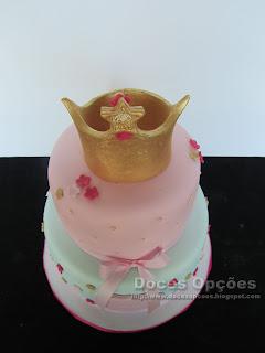 bolo decorado coroa princesa