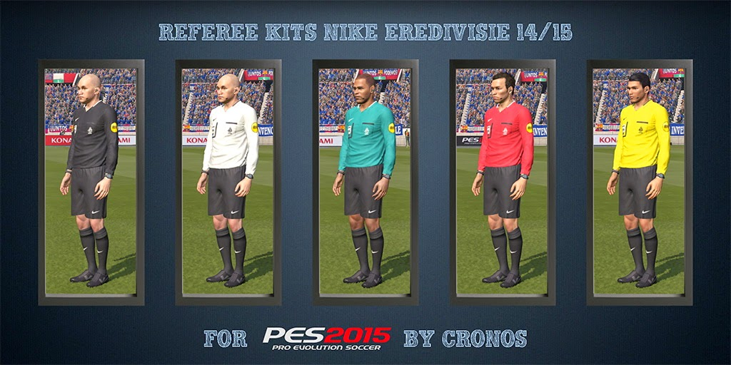 PES 2015 Referee Kits Nike Eredivisie 14-15 + Adidas UEFA Champions League 14-15 CPK