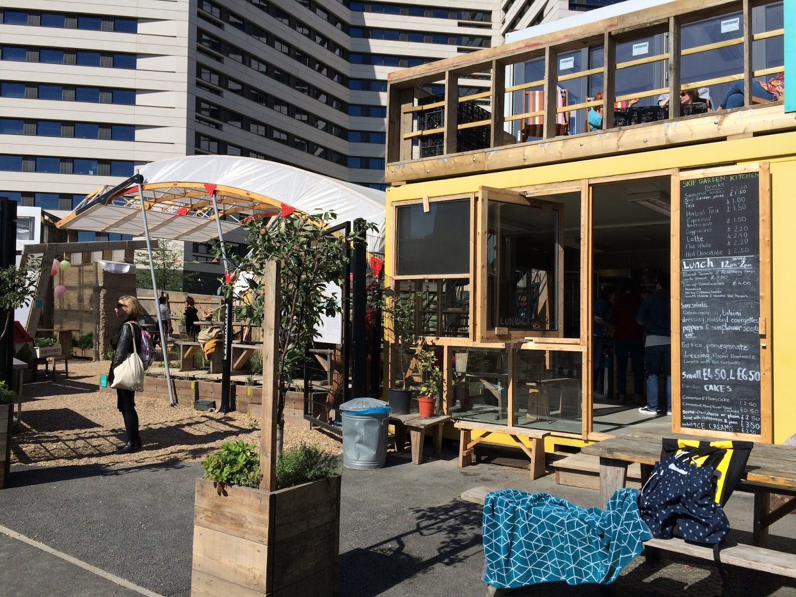 The Garden Kitchen The Peregrinating Penguin Kings Cross Skip Garden A First Rate