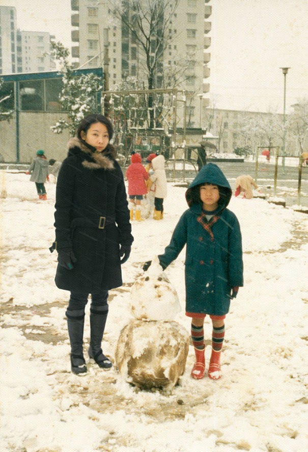 Chino Otsuka digital manipulation old photos insert actual herself