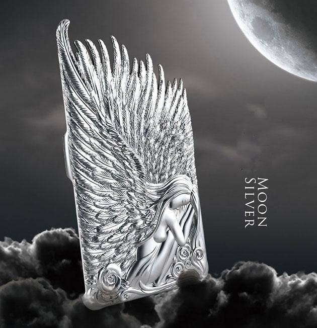 เคส Note 4 Angel Wings 144066 สีเงิน