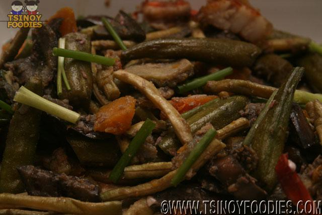 Pinakbet with Shrimp and Crispy Pata