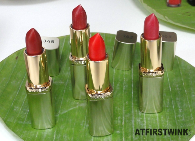 L'Oréal Color Riche lipsticks in red tones