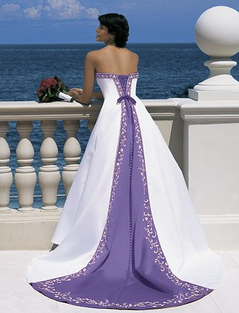 Wedding Dresses Trimmed In Purple 81