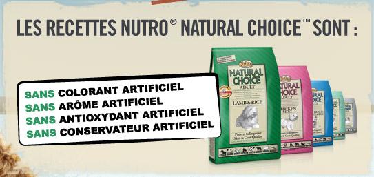 5 bons d'achat de 120€ sur les produits Nutro Natural Choice à gagner