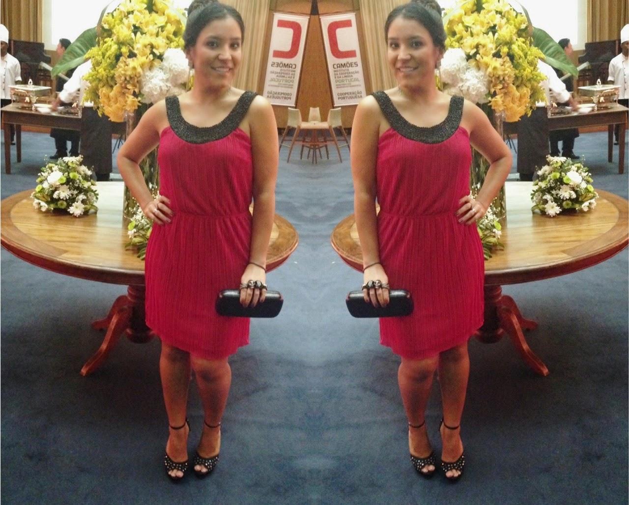 Vestido Vermelho Cocktail Dress para o Prêmio Engenho