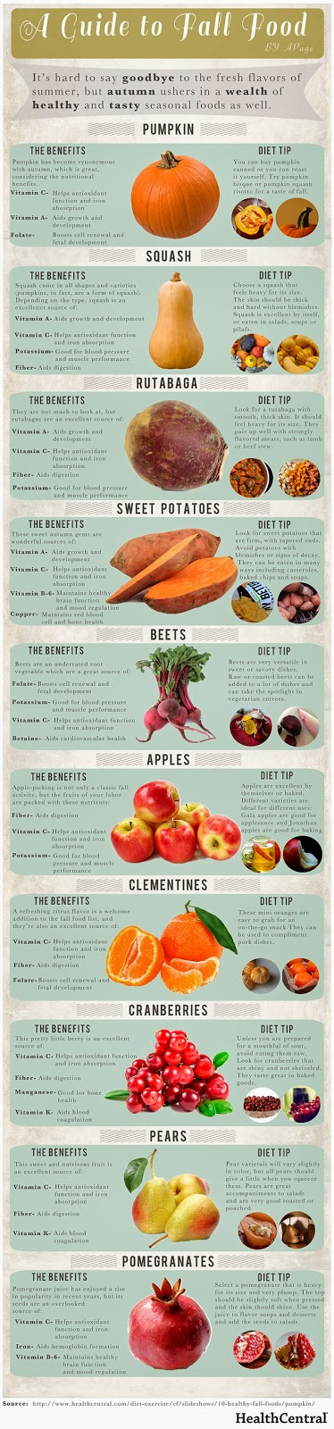 Essential health solutions october 2014 for Fall cooking tips