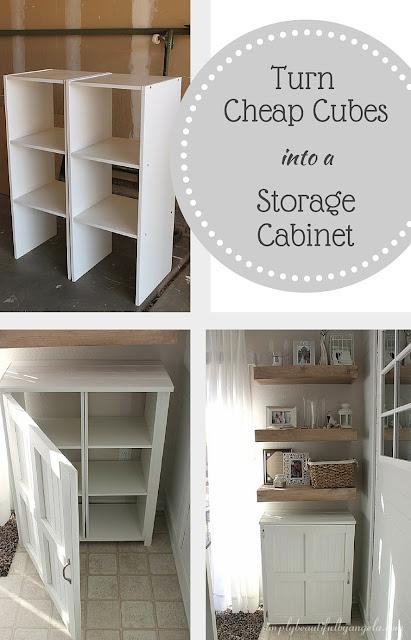 DIY Storage Cabinet Using Cheap Cube Units