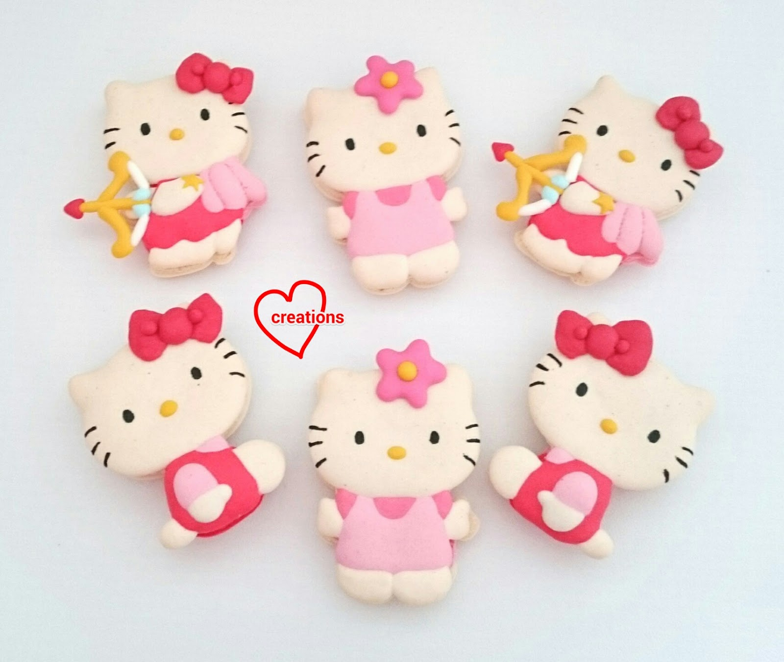 Loving creations for you full body hello kitty macarons with loving creations for you full body hello kitty macarons with chocolate ganache and lemon curd voltagebd Choice Image
