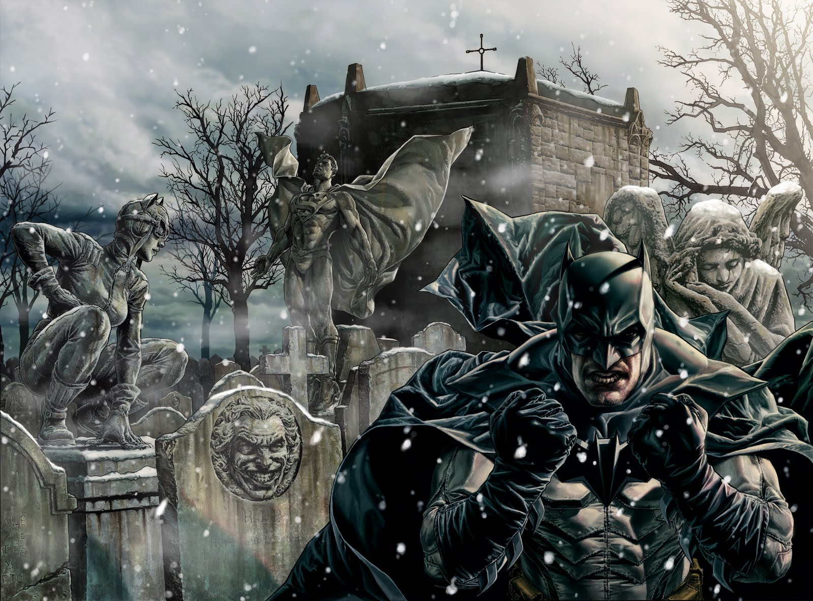 Thématique de Noël : Batman Noël de Lee Bermejo dans 3D batmannoel