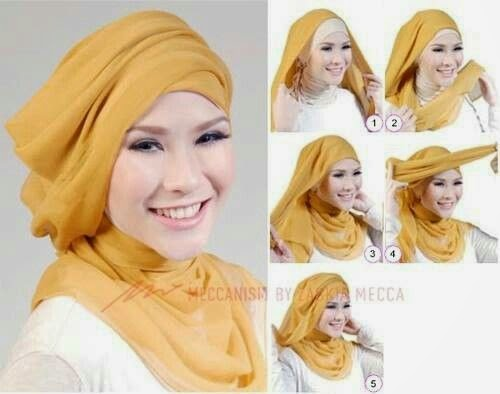 Tutorial Hijab ala Zaskia Adya Mecca | Cara Memakai Jilbab Tutorial ...