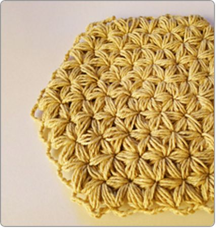 Crochet Jasmine Stitch Pattern : regular stitch can also be made with the jasmine stitch