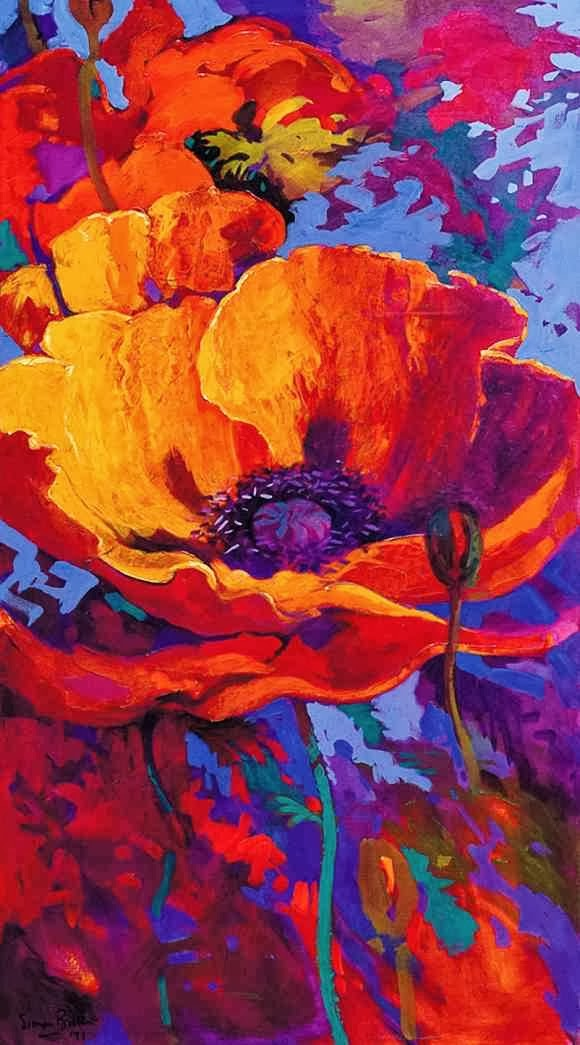 Lukisan Bunga Karya Simon Bull