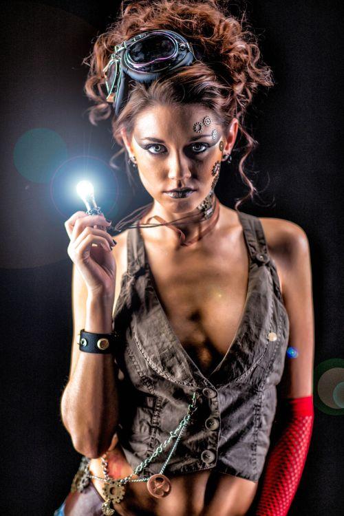 Dave Kelley fotografia mulheres modelos fashion Katrina steampunk