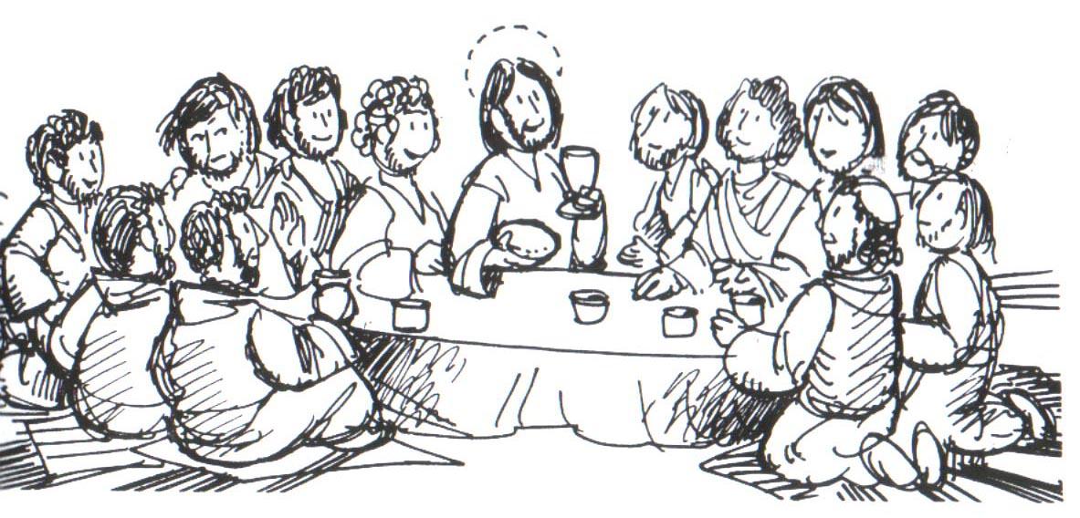 Dibujos Cristianos: Dibujos de La Santa Cena para colorear