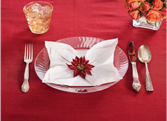 Poinsetta Napkin Fold by Chinet