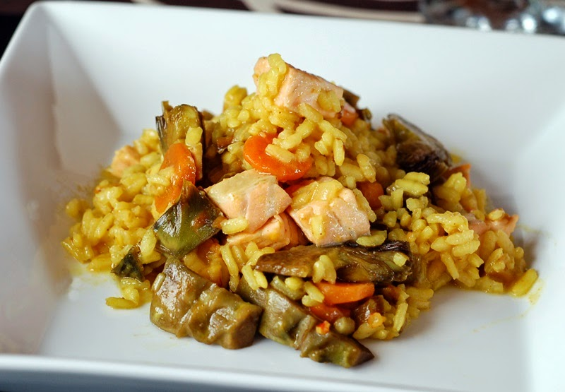 arroz meloso con salmón, healthy food, littledreamsbyr
