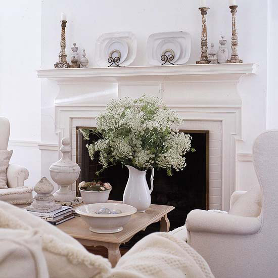 Decorating Ideas > Modern Furniture Decorating With White 2013 Summer Ideas ~ 141146_Fireplace Mantel Decorating Ideas For Summer
