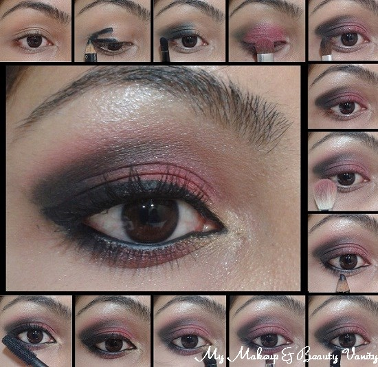 Eye Makeup Tutorial- Smokey Pink Eyes+smokey eye tutorial+smokey eye step by step+step by step smokey eye