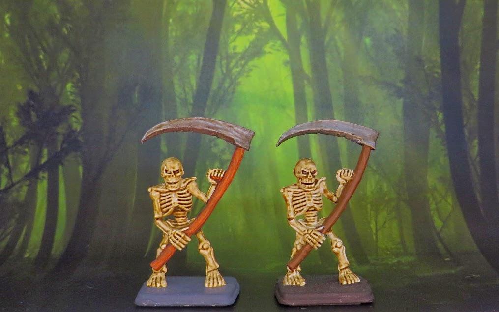Heroquest, Games Workshop, boardgame, zombie, mummy, skeleton, sorcerer, warrior, painted