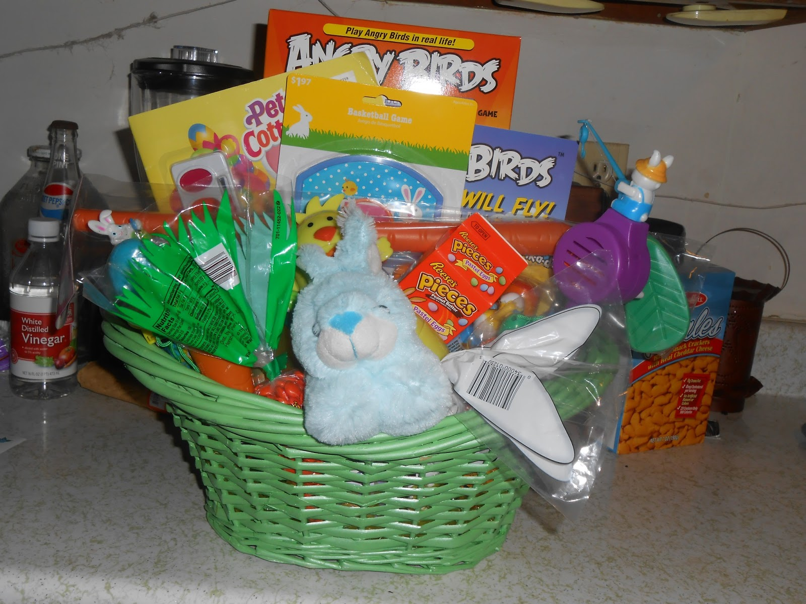 Theeconomicallythriftymommy what the easter bunny is bringing our this is everything put together in his basket without the wrap i dont get everything at once it gets picked up at different times for a few months negle Images