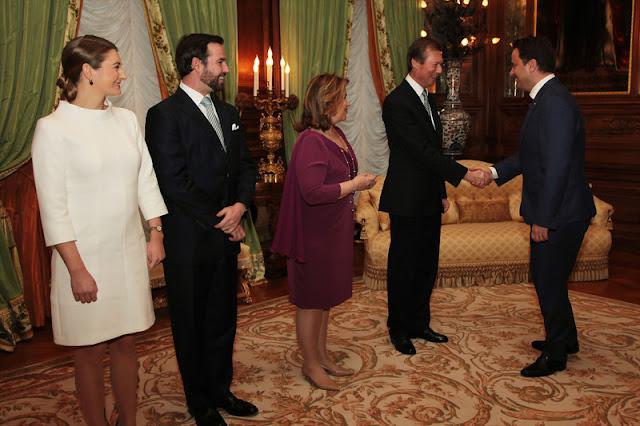 Grand-Duc Héritier et la Grande-Duchesse Héritière reçoivent également en audience au Palais grand-ducal